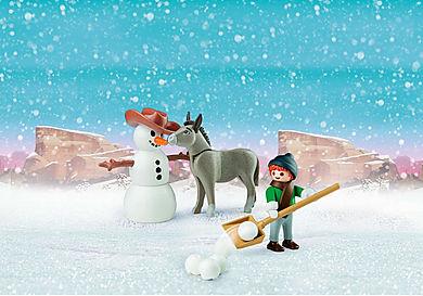 70398 Muñeco de Nieve con Trasqui y Señor Zanahoria