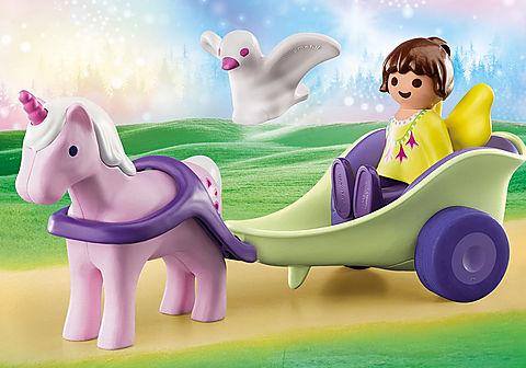 70401 Calèche avec licorne et fée