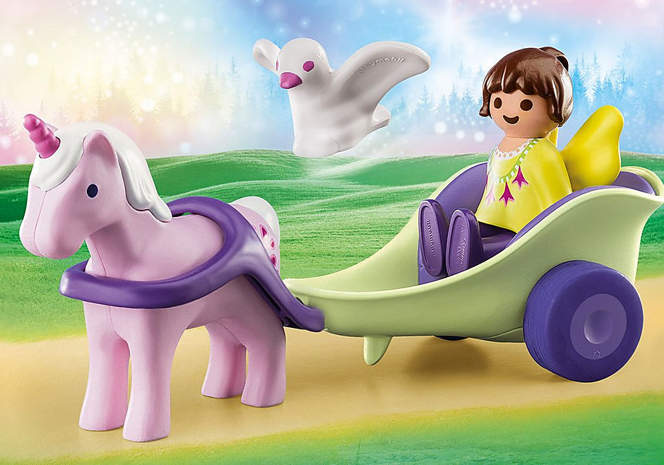 70401 Unicorn Carriage with Fairy detail image 1