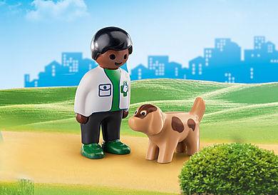 70407 Vétérinaire avec chien