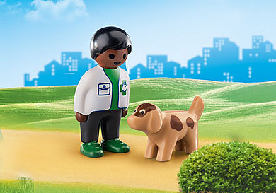 70407 Vet with Dog
