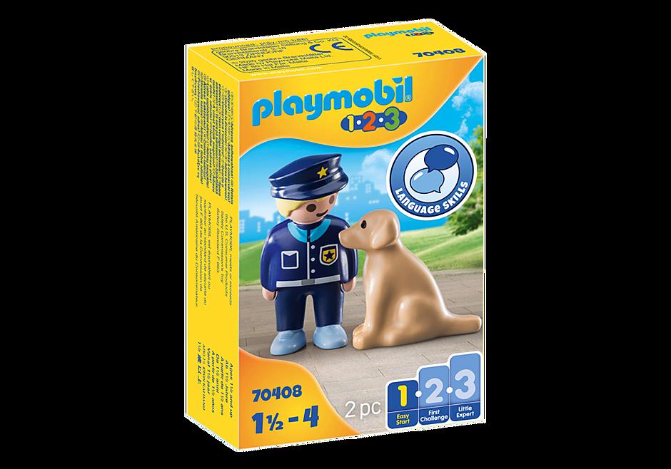 70408 Politieman met hond detail image 2