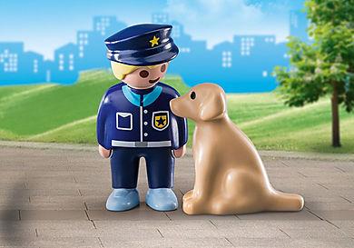 70408 Polizist mit Hund