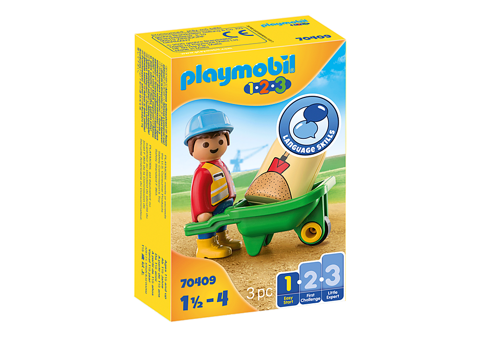 70409 Construction Worker with Wheelbarrow detail image 2