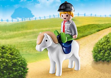70410 Garçon avec poney