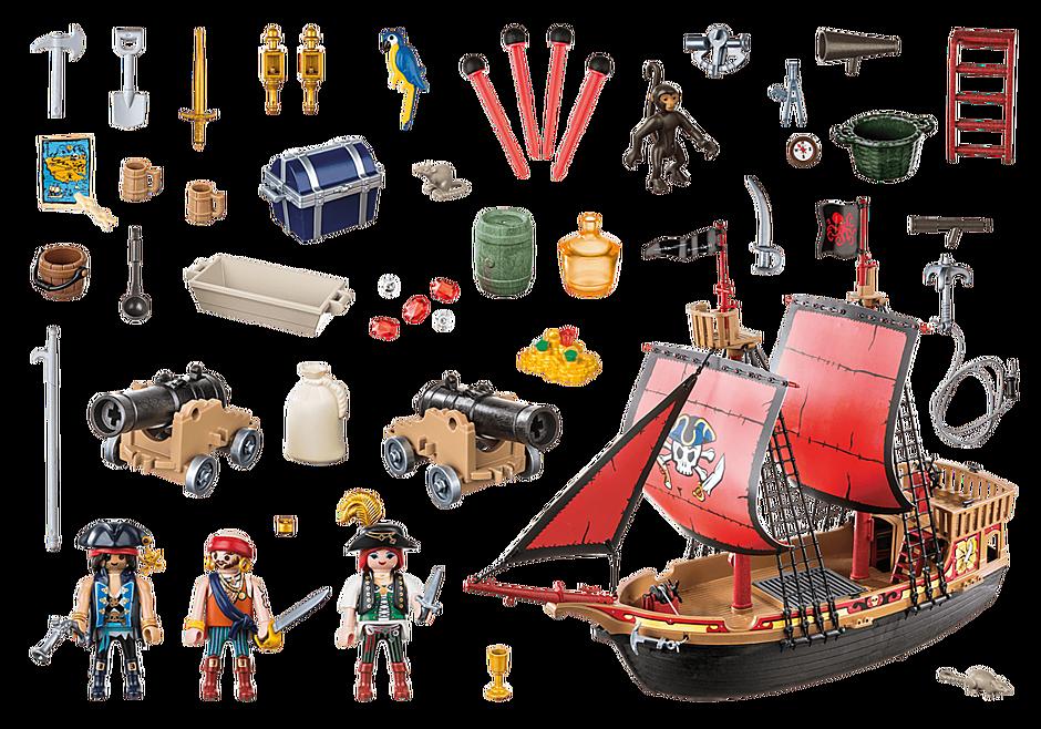 70411 Piratskepp med dödskallar detail image 3