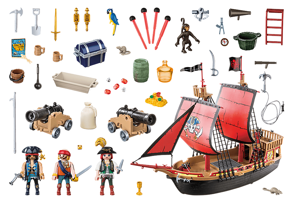 70411 Skull Pirate Ship detail image 3