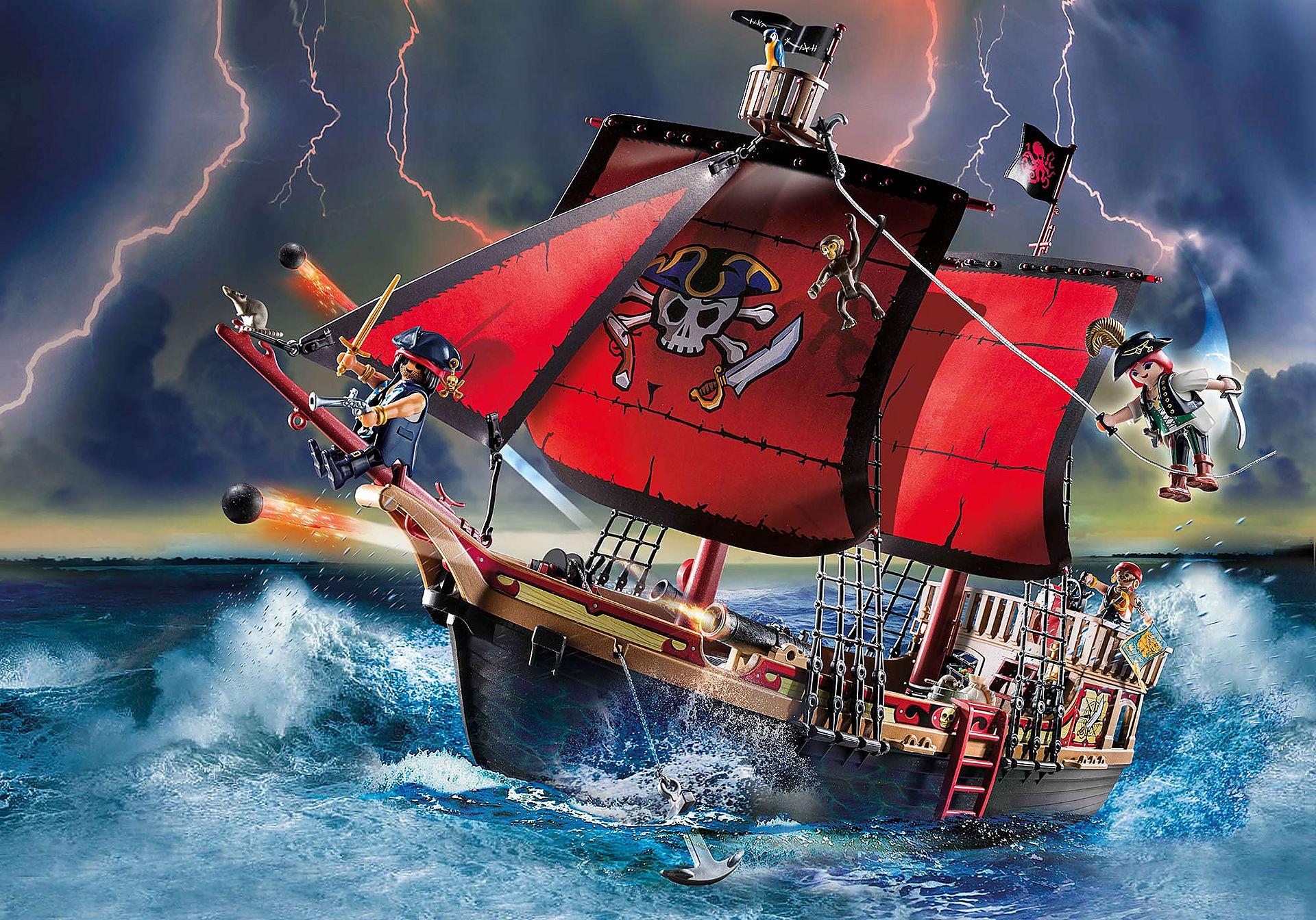 70411 Piratskepp med dödskallar zoom image1