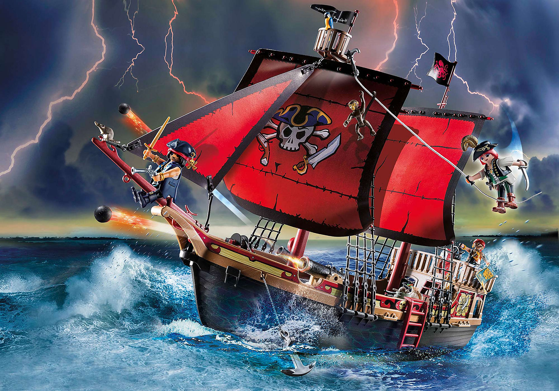 70411 Skull Pirate Ship zoom image1