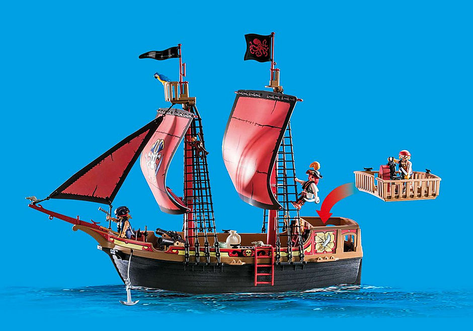 70411 Barco Pirata Calavera detail image 4