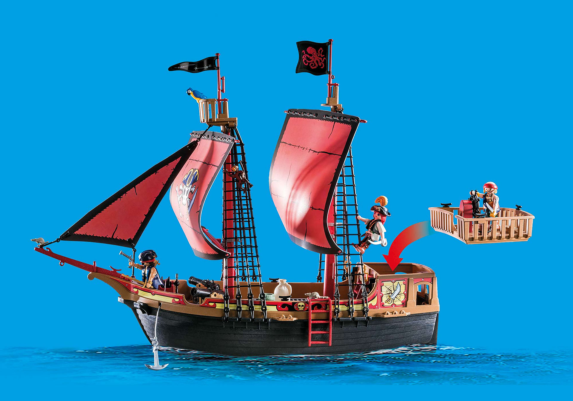 70411 Skull Pirate Ship zoom image4