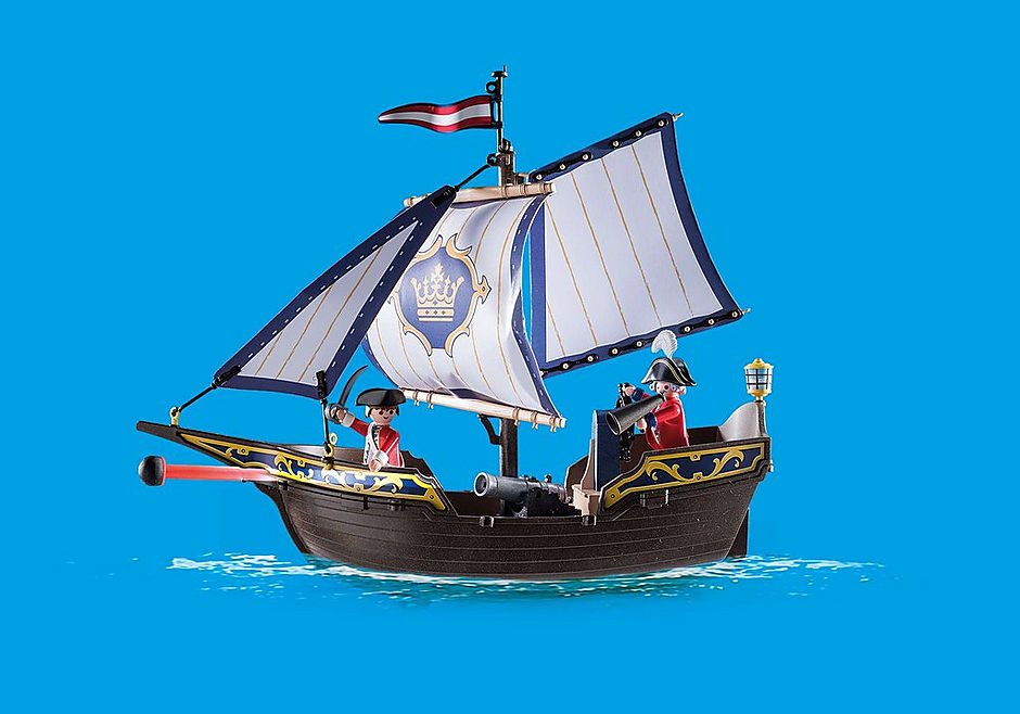 70412 Skepp med rödrockar detail image 4