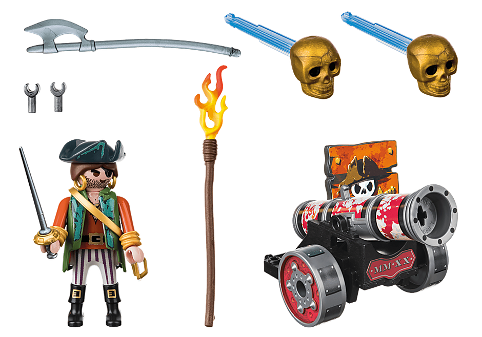 70415 Piraat met kanon detail image 2