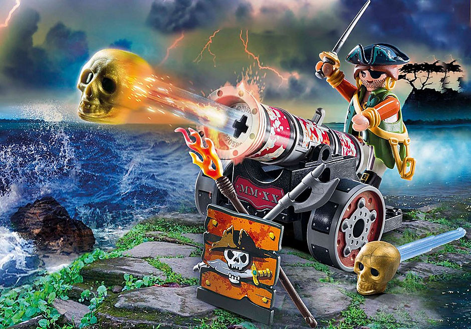 70415 Pirate with Cannon detail image 1