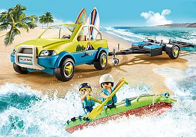 70436 Strandbil med kanoanhænger