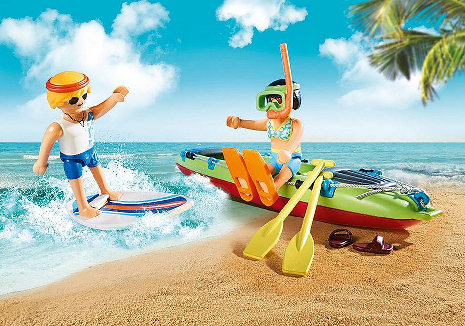 70436 Auto da spiaggia con rimorchio per canoa detail image 4