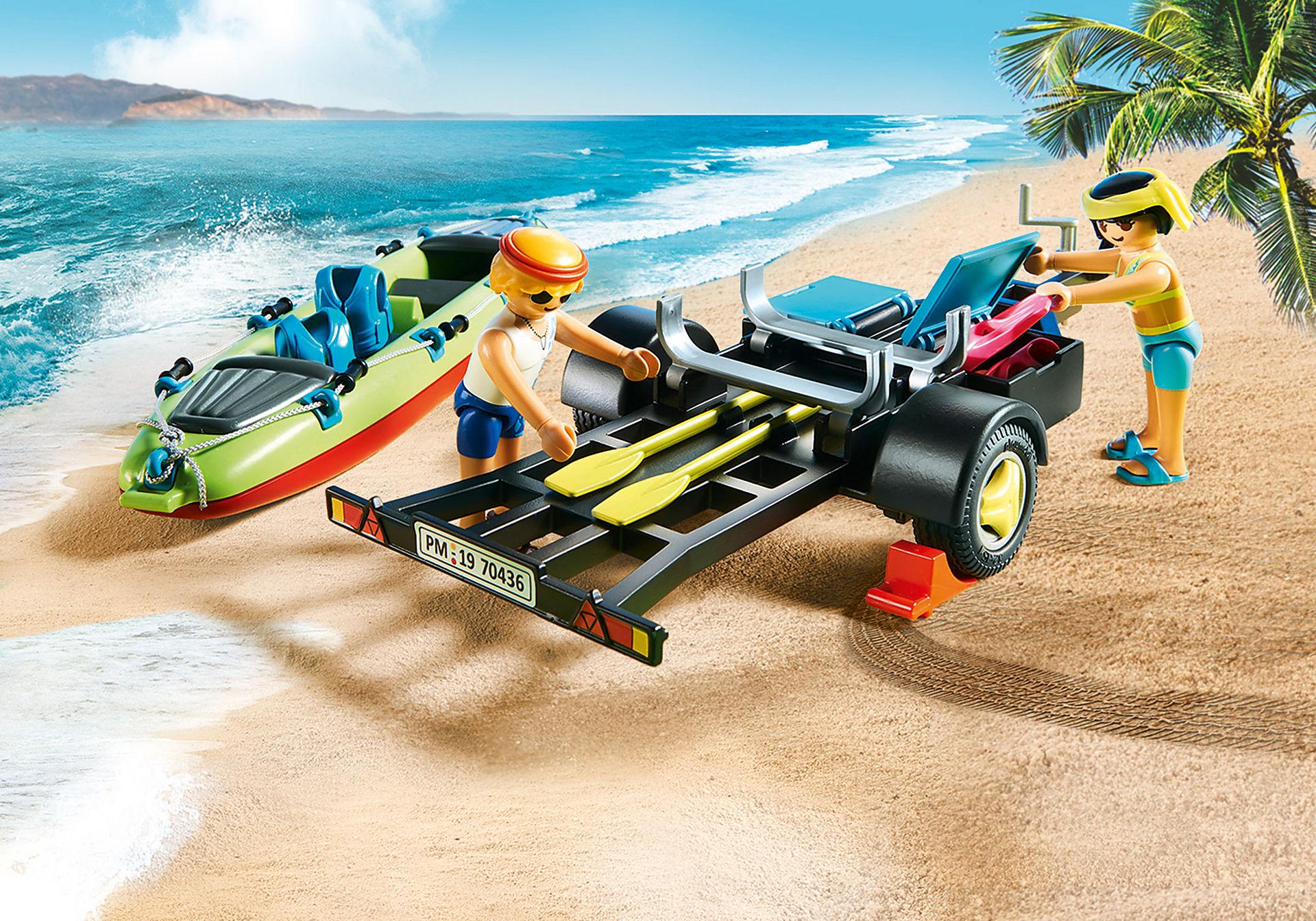 70436 Auto da spiaggia con rimorchio per canoa zoom image5
