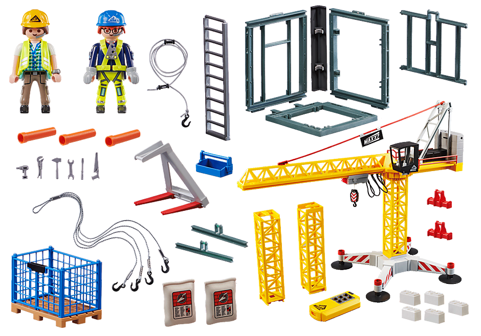 70441 RC bouwkraan met bouwonderdeel detail image 3