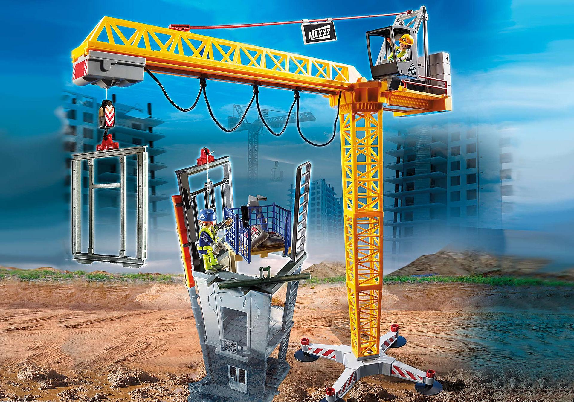 70441 RC bouwkraan met bouwonderdeel zoom image1