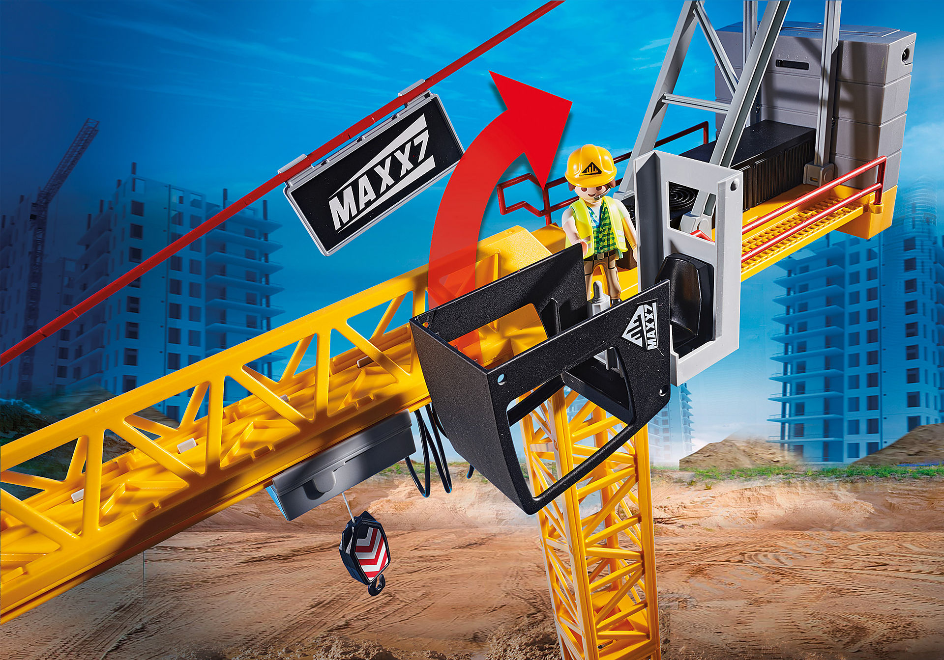 70441 RC bouwkraan met bouwonderdeel zoom image4