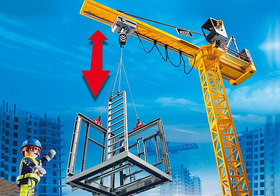 70441 Fjernstyret byggekran med byggedele detail image 5