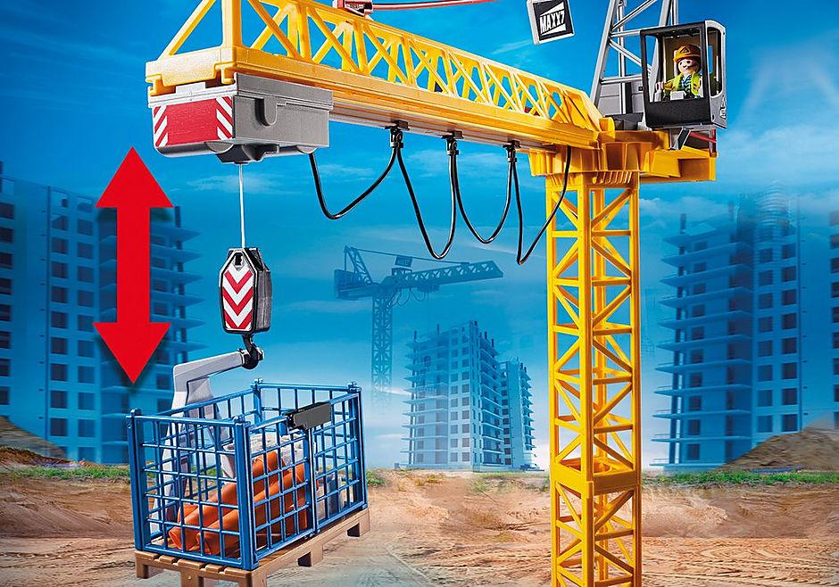 70441 Fjernstyret byggekran med byggedele detail image 6