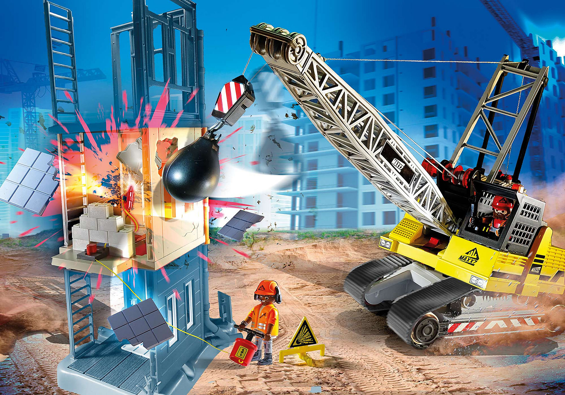 70442 Cable Excavator with Building Section zoom image1