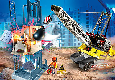 70442 Dragline avec mur de construction