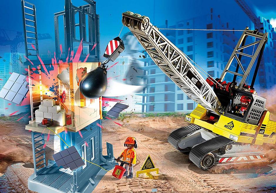 70442 Dragline avec mur de construction detail image 1