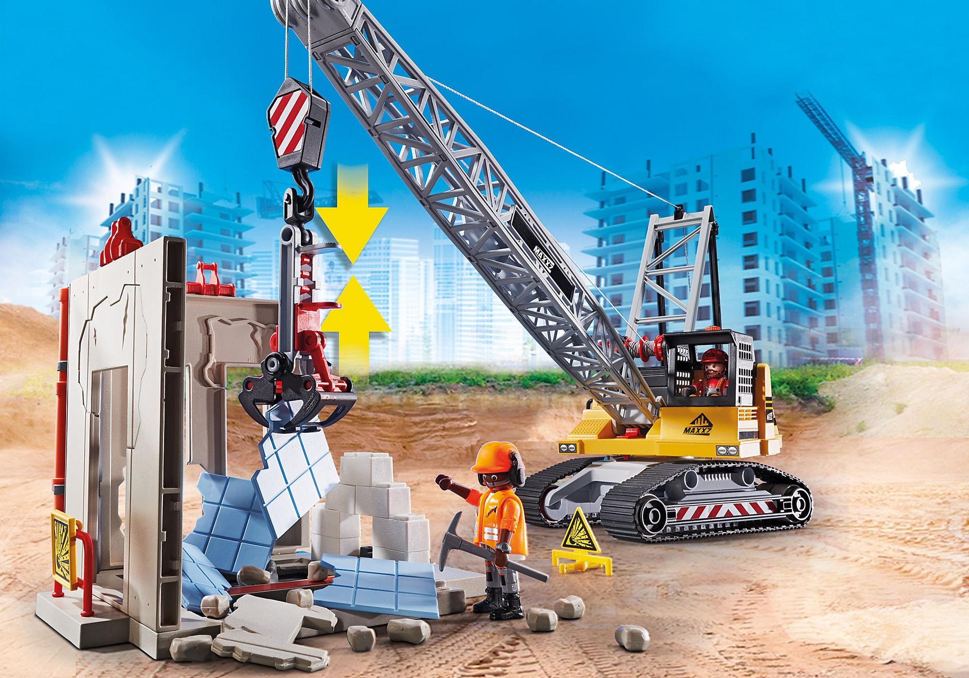 70442 Dragline avec mur de construction zoom image4