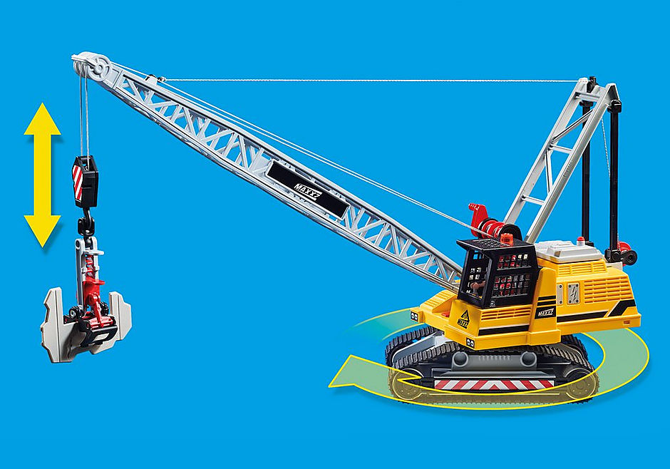 70442 Kabelgraafmachine met bouwonderdeel detail image 9