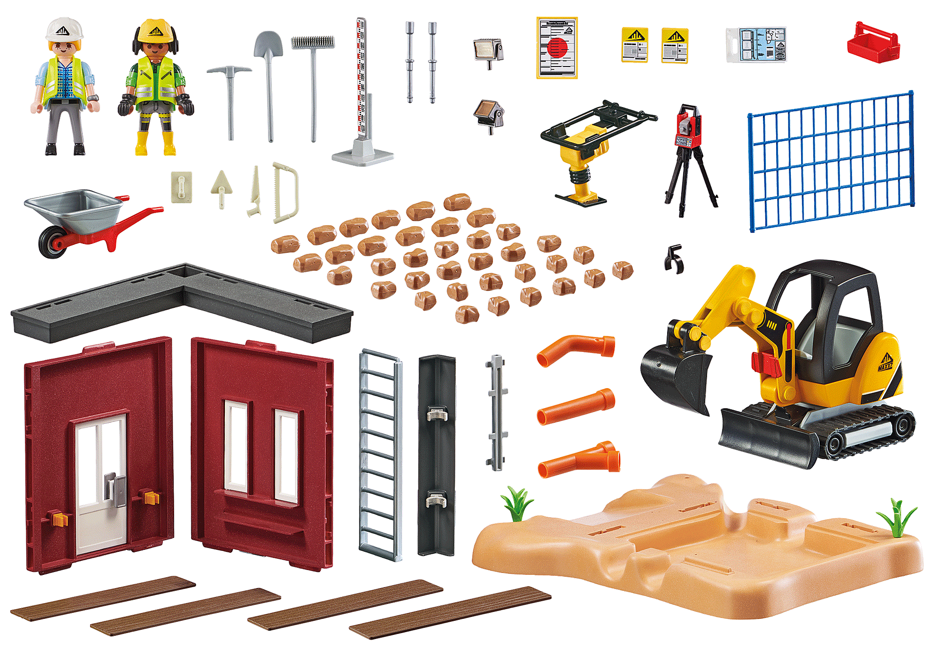 70443 Mini Excavator with Building Section zoom image3