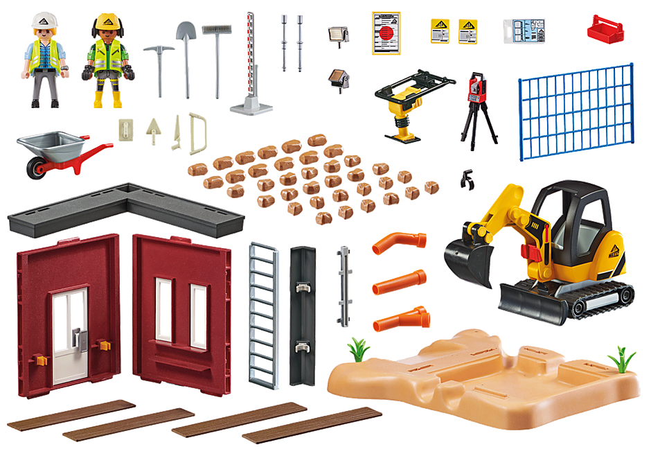 70443 Mini-pelleteuse et chantier detail image 3