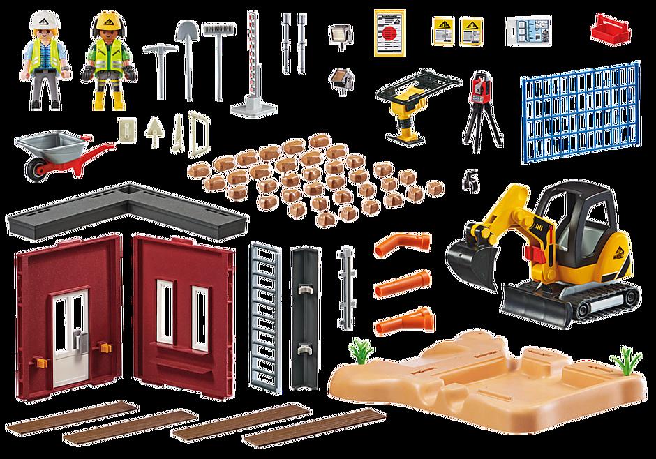 70443 Minibagger mit Bauteil detail image 3