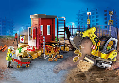 70443 Mini escavatore con cantiere