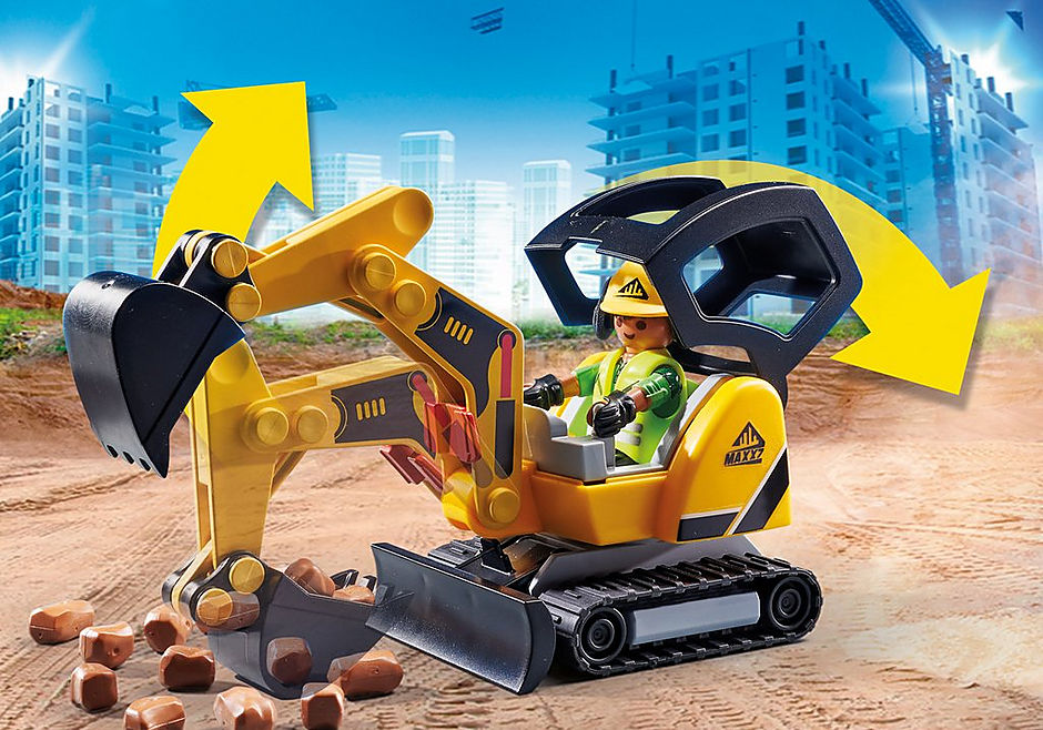 70443 Mini graafmachine met bouwonderdeel detail image 5
