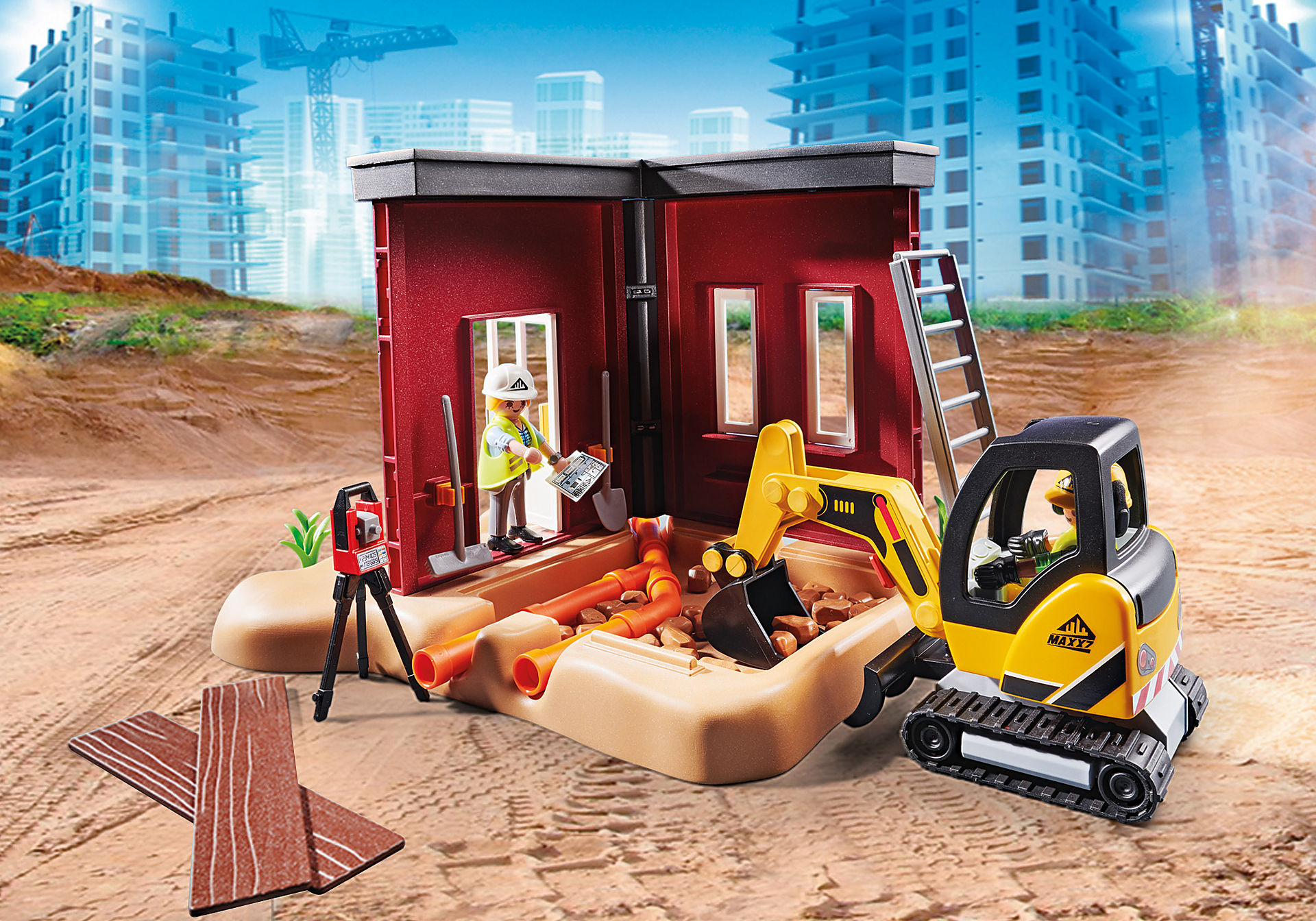 70443 Mini Excavator with Building Section zoom image6