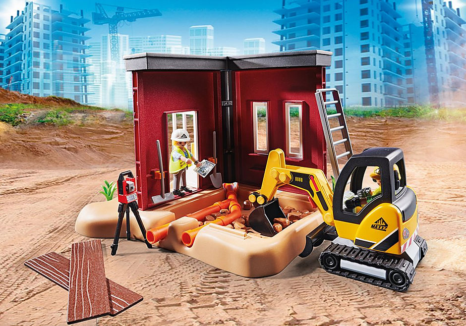 70443 Mini Excavator with Building Section detail image 6
