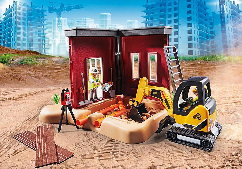 70443 Mini-pelleteuse et chantier detail image 6