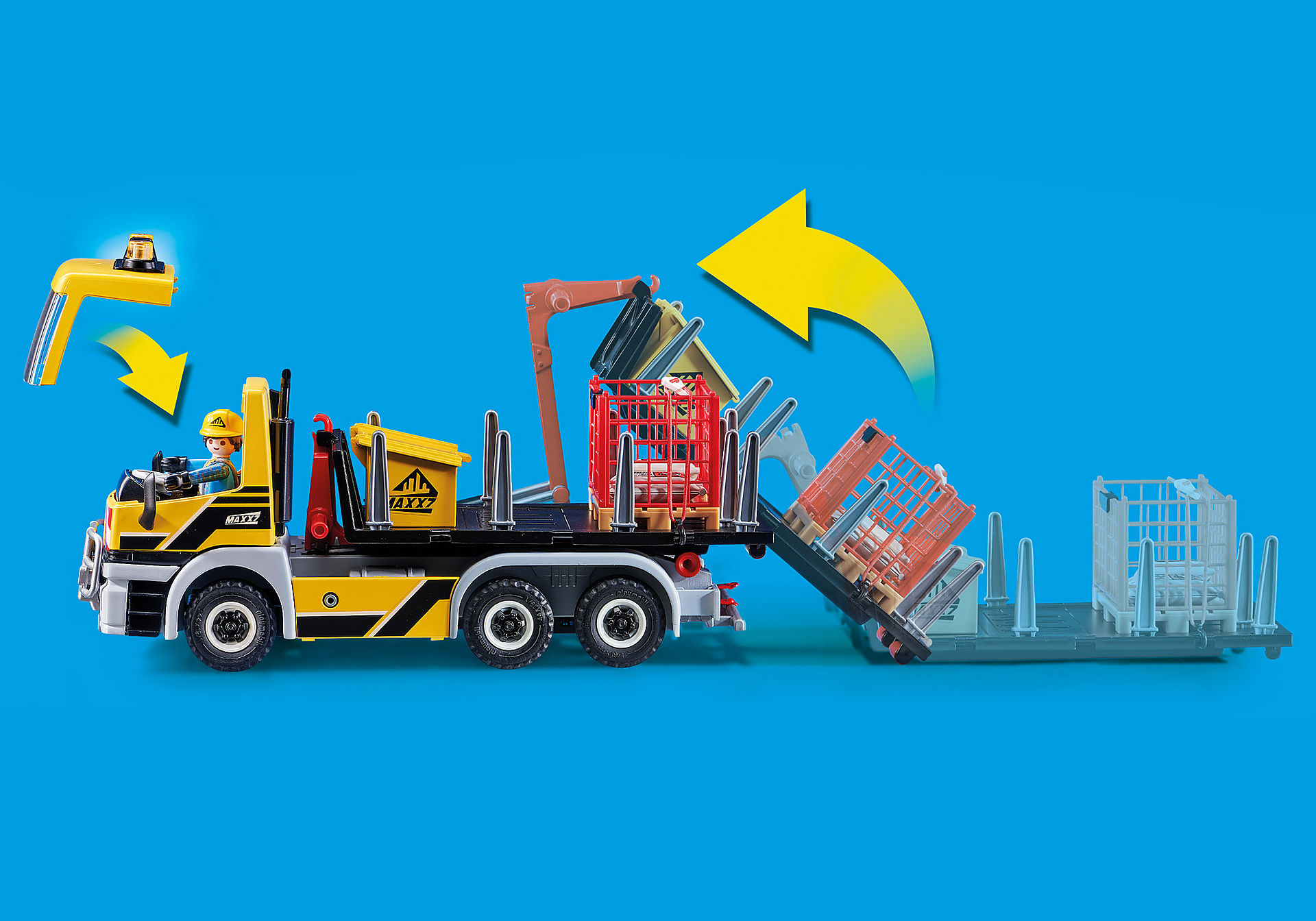70444 Camion avec benne et plateforme interchangeables zoom image7