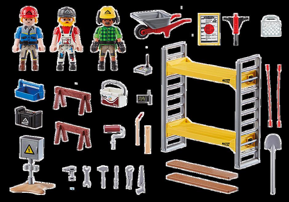 70446 Baugerüst mit Handwerkern detail image 3