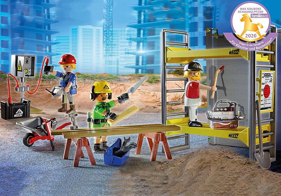 70446 Baugerüst mit Handwerkern detail image 1