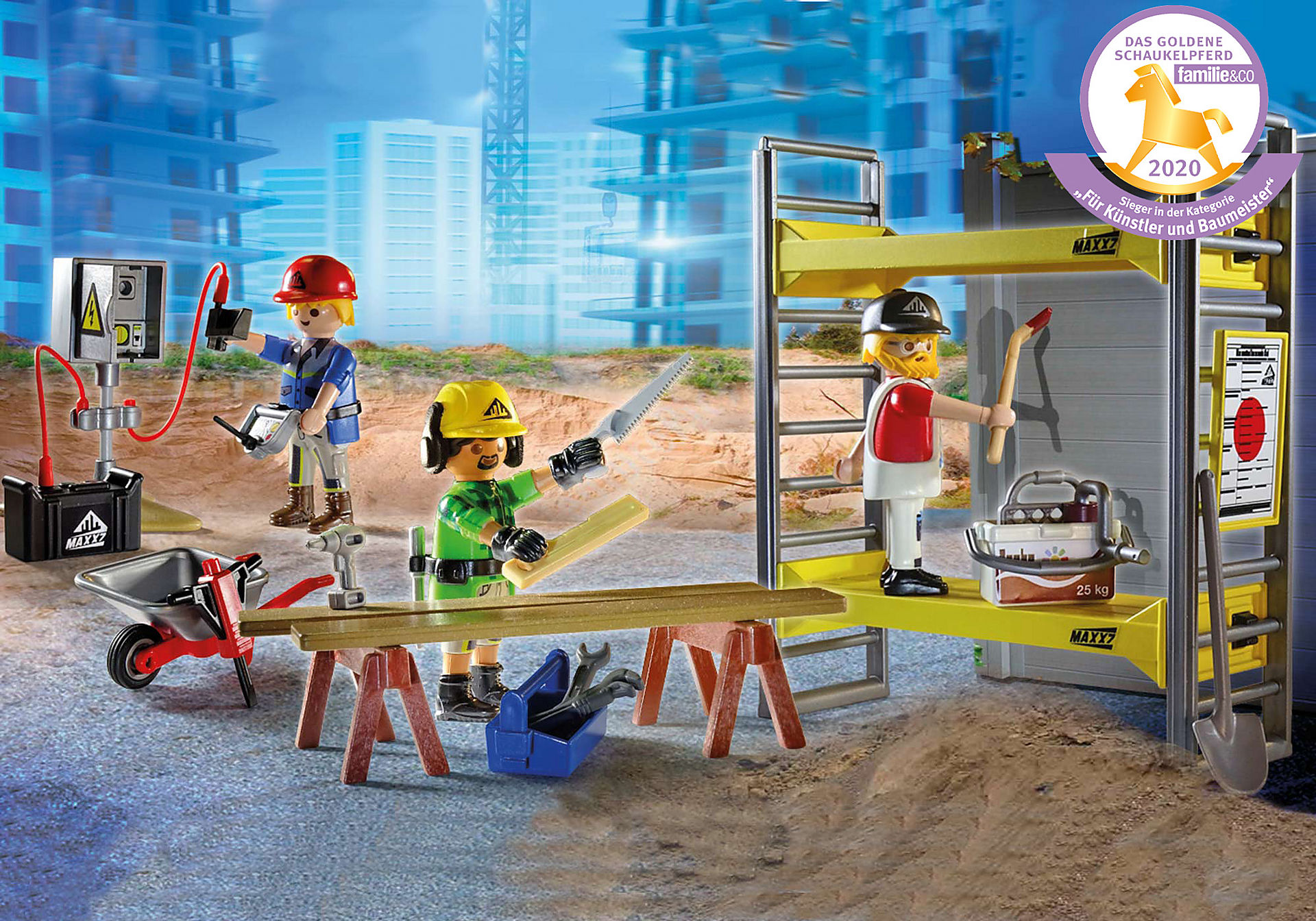 70446 Baugerüst mit Handwerkern zoom image1
