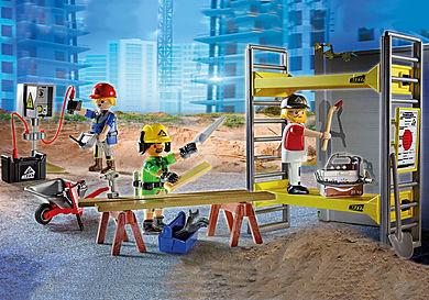 70446 Rakennusteline ja työläiset