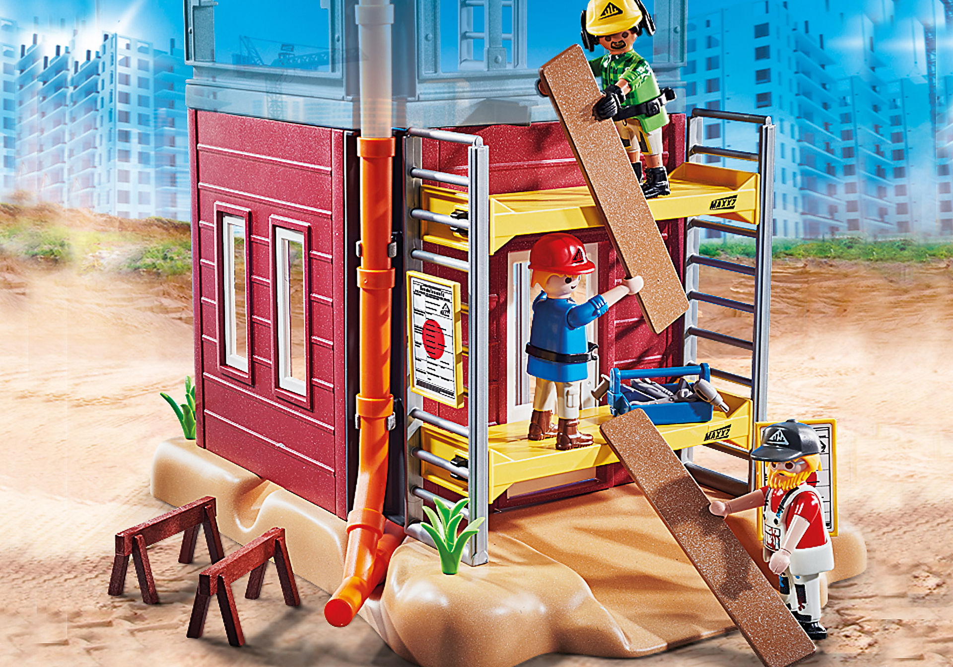 70446 Byggnadsställning med hantverkare zoom image4