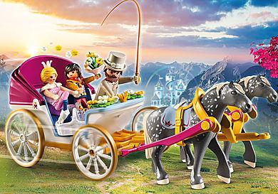 70449 Romantisk hest og vogn