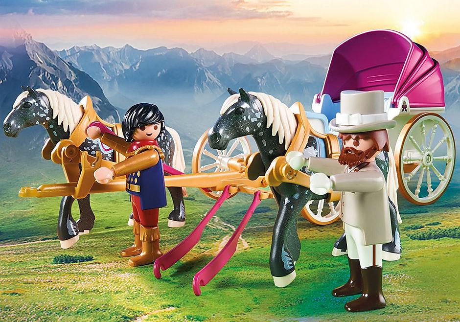 70449 Carruaje Romántico tirado por caballos detail image 5
