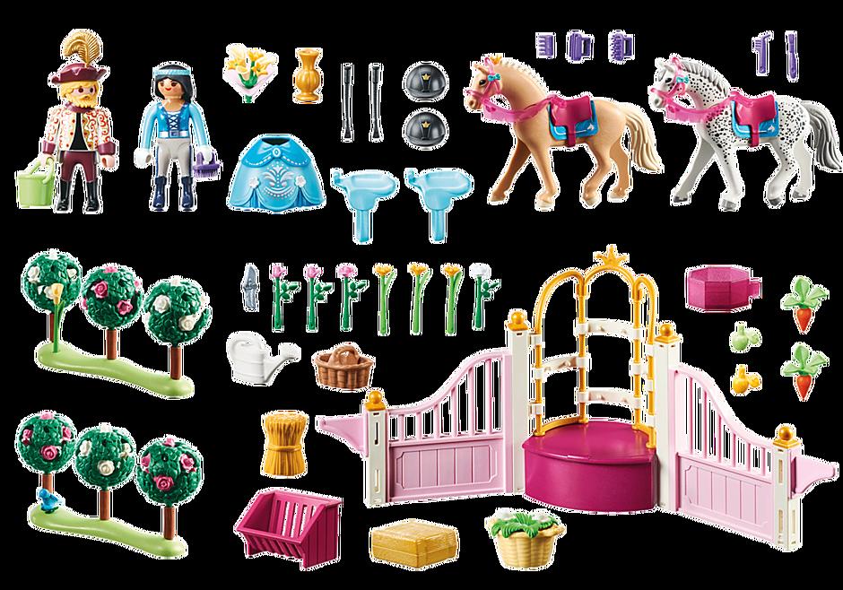 70450 Princesse avec chevaux et instructeur detail image 3