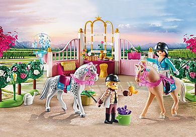70450 Princesse avec chevaux et instructeur