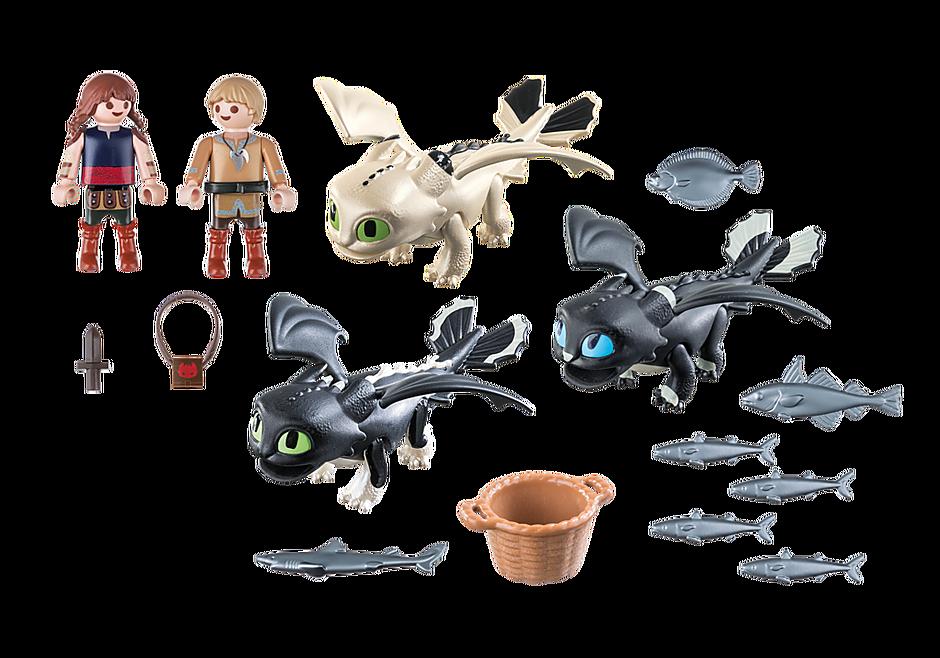 70457 Viking Children with Baby Dragons detail image 3